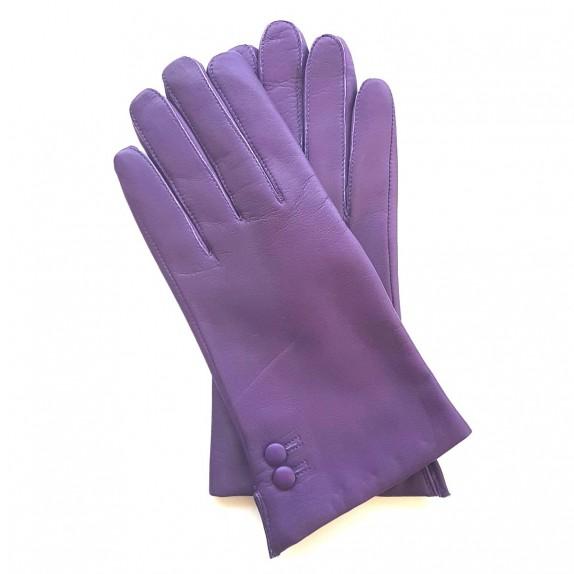 """Gants en cuir d'agneau violet """"CLEMENTINE"""""""