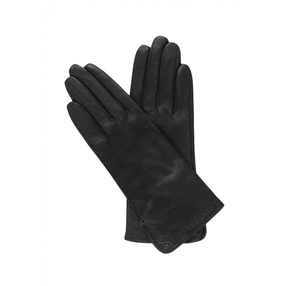 "Leather gloves of lamb black ""VIOLETTE"""