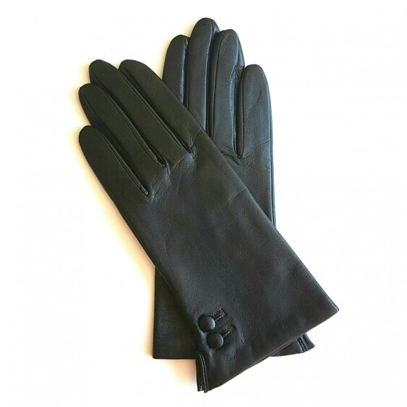 "Leather gloves of lamb black ""CLEMENTINE"""