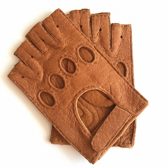 "Leather mittens of peccary cork ""MARLENE""."