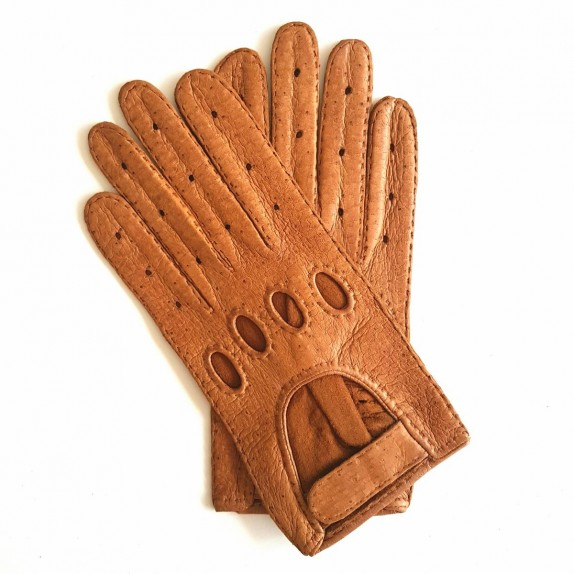 "Leather gloves of peccary cork ""POMPEIA"""