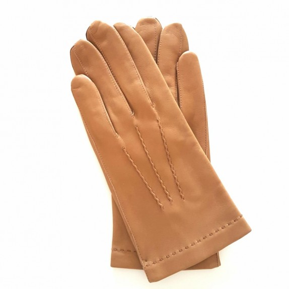 "Leather gloves of lamb clear biscuit ""HENRI"""
