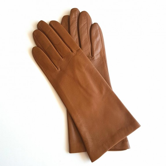 "Leather gloves of lamb biscuit ""COLINE"""