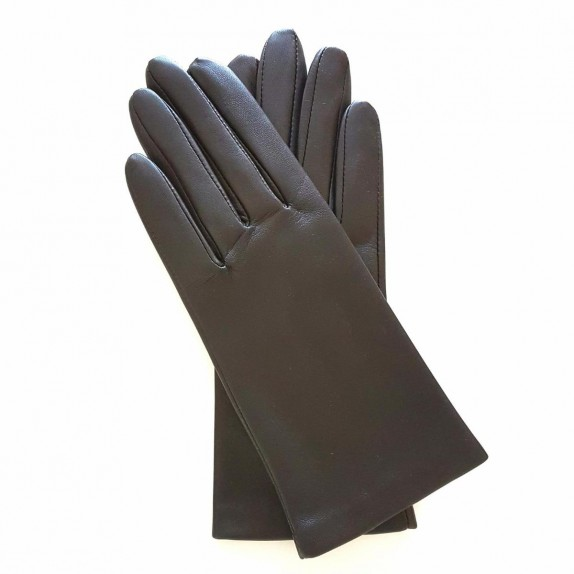 "Leather gloves of lamb brown ""CAPUCINE"""
