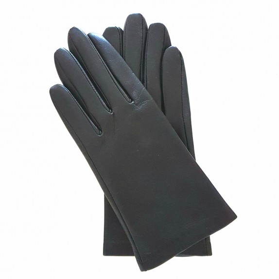"Leather gloves of lamb black ""CAPUCINE"""