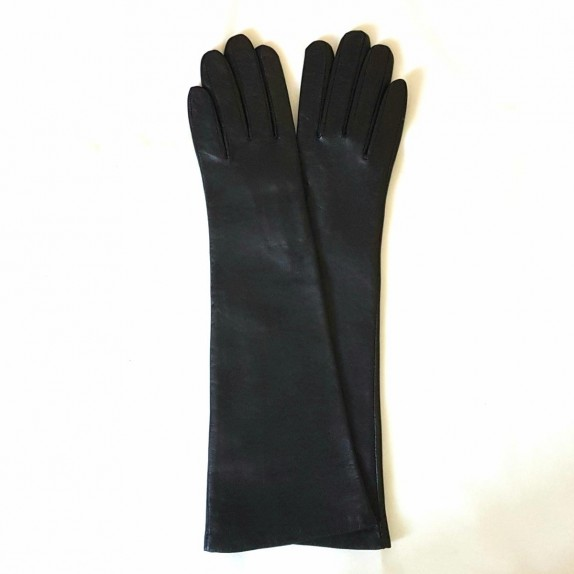 "Leather gloves of lamb black ""SERAPHINE""."