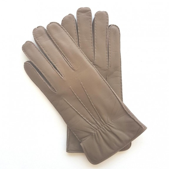 "Leather gloves of lamb sand "" MARC """