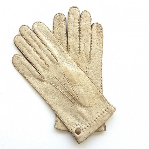"Leather Gloves  of peccary otmeal and kapuzin ""PERNILLE"""