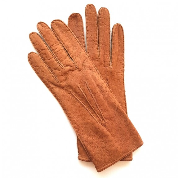 "Leather Gloves of peccary cork  ""LEONIE""."