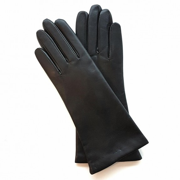"Leather gloves of lamb black ""COLINE""."