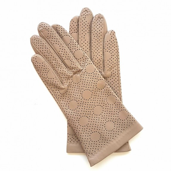 "Leather gloves of lamb putty ""CARMELINA""."