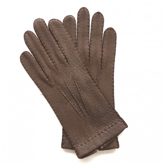 "Leather gloves of peccary mink ""PATT""."