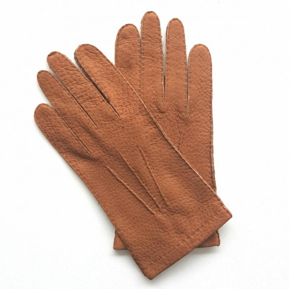 "Leather gloves of peccary cork ""JOSEPH""."
