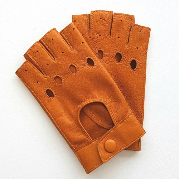 "Leather mittens of lamb maize ""PILOTE""."