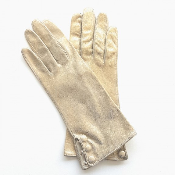 """Leather gloves of lamb gold """" GLORIA""""."""
