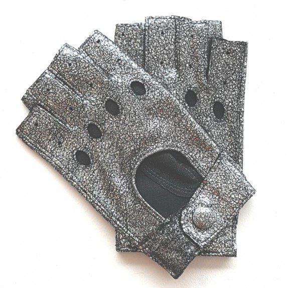 """Leather mittens of lamb tin """"PILOTE""""."""