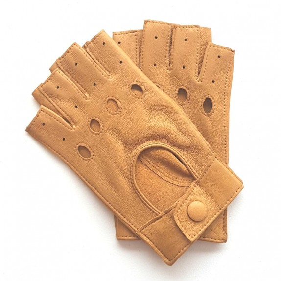 "Leather gloves of lamb light cork ""PILOTE""."