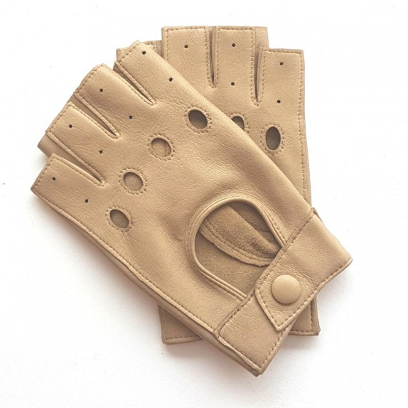 "Leather mittens of lamb sand PILOTE""."