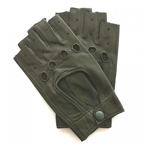 "Leather mittens of lamb blossom ""PILOTE""."