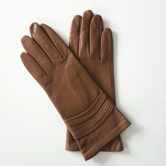 "Leather gloves of lamb sand ""ATHENA"""
