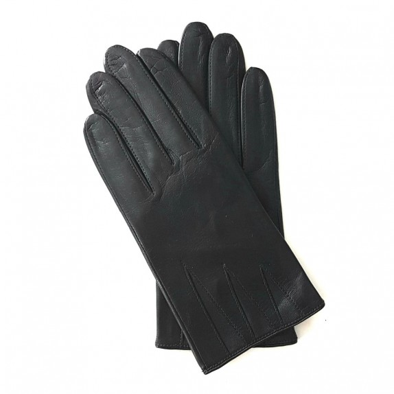 "Leather gloves of lamb black ""TRIUNGHI"""