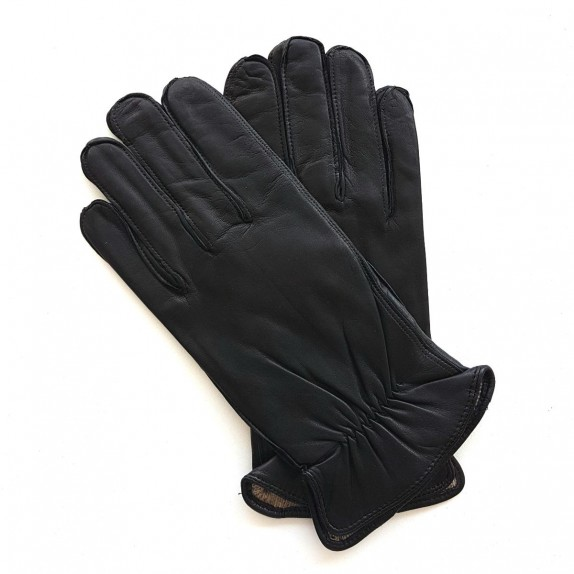 "Leather gloves of lamb black ""ANTONIN"""