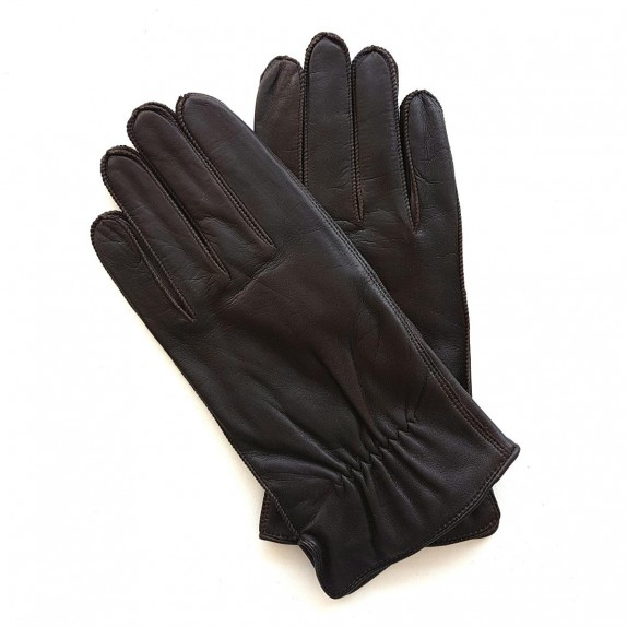 "Leather gloves of lamb brown ""ANTONIN"""