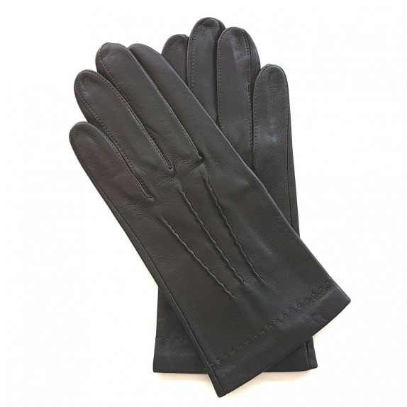 """Leather gloves of lamb brown """"HENRI"""""""