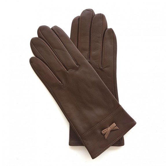 "Leather gloves of lamb tobacco and sand ""ANEMONE"""