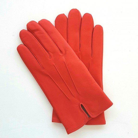 "Leather gloves of lamb nasturtium "" COWBOY""."