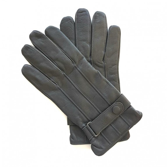 "Leather gloves of lamb grey ""BASILE"""