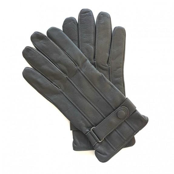 "Leather gloves of lamb grey ""BASILE"""