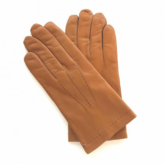 "Leather gloves of lamb biscuit ""HENRI"""
