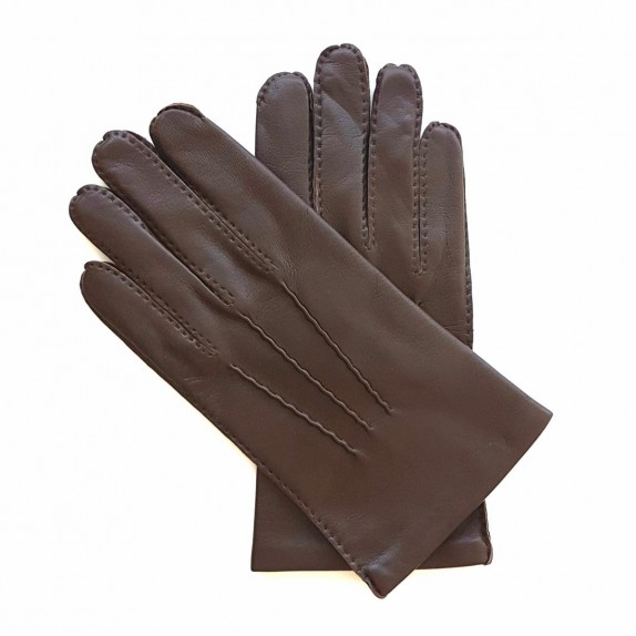 "Leather gloves of lamb brown ""PIERRE"""
