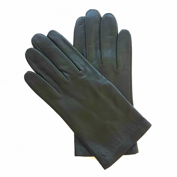 "Leather gloves of lamb khaki ""RAPHAËL""."