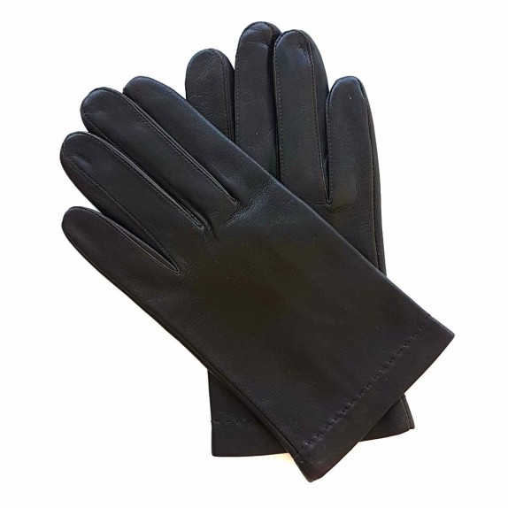 "Leather gloves in lamb brown ""RAPHAËL""."