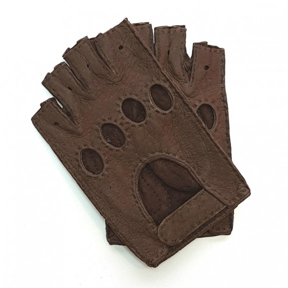 "Leather mittens of peccary mink ""MATHEO""."