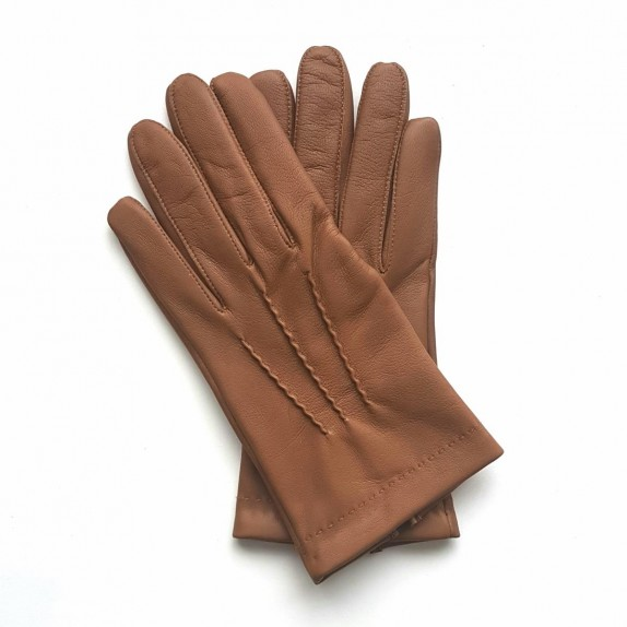 "Leather gloves of lamb nut ""HENRI"""