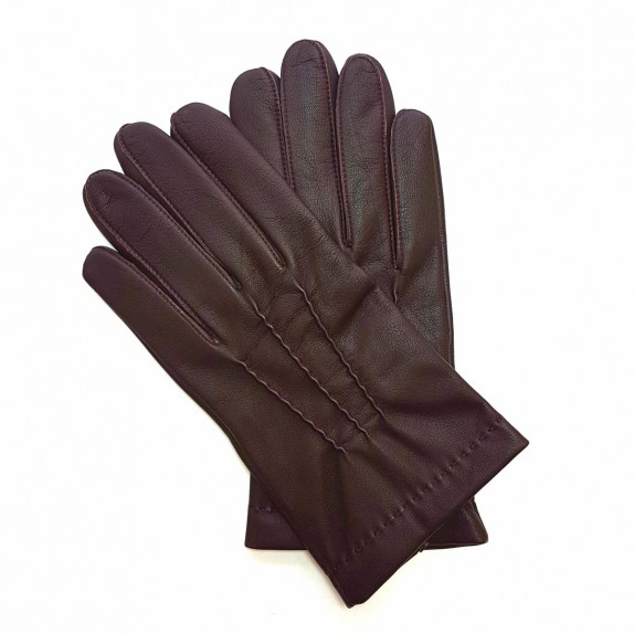 "Leather gloves of lamb red ""HENRI"""