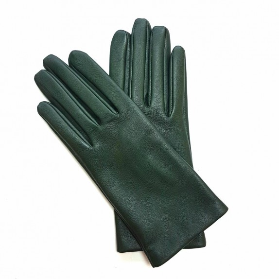 "Leather gloves of lamb khaki ""CAPUCINE"""