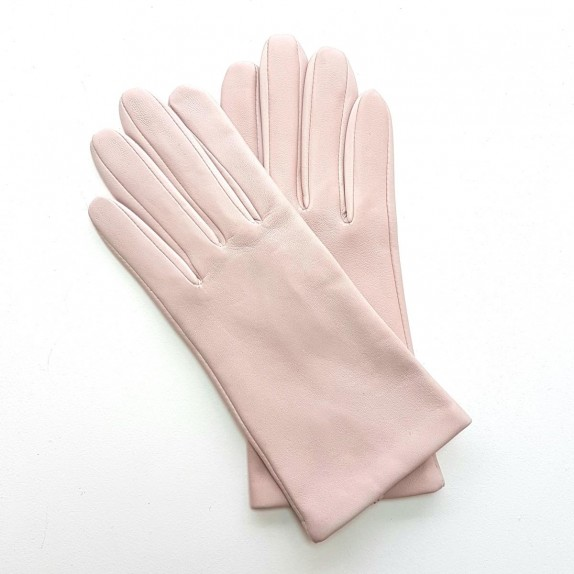 "Leather gloves of lamb powder pink ""CAPUCINE"""