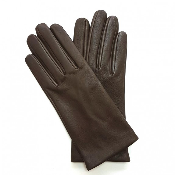 "Leather gloves of lamb peat ""CAPUCINE"""