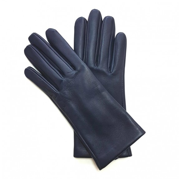 "Leather gloves of lamb damson ""CAPUCINE"""