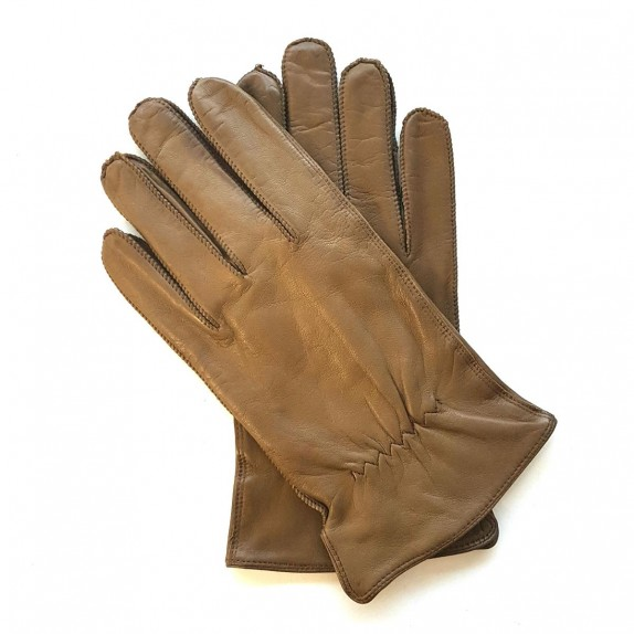 "Leather gloves of lamb sienna ""ANTONIN"""
