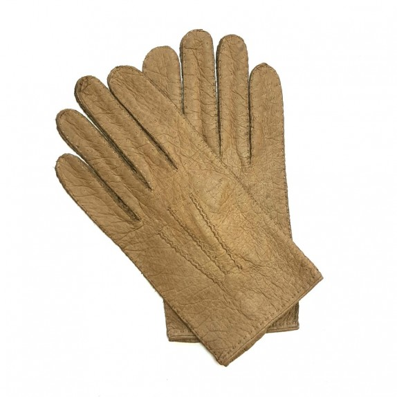 "Leather gloves of peccary kapuzin ""JOSEPH""."