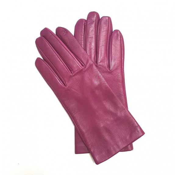 "Leather gloves of lamb hot pink""CAPUCINE"""