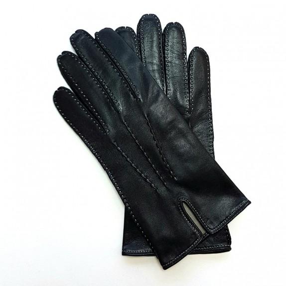 """Leather gloves of lamb black """"GISELE"""""""