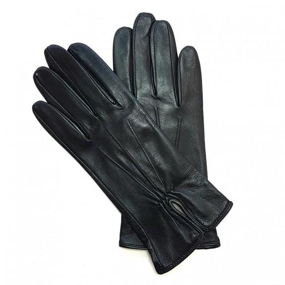 """Leather gloves of lamb black """"JULIE"""""""