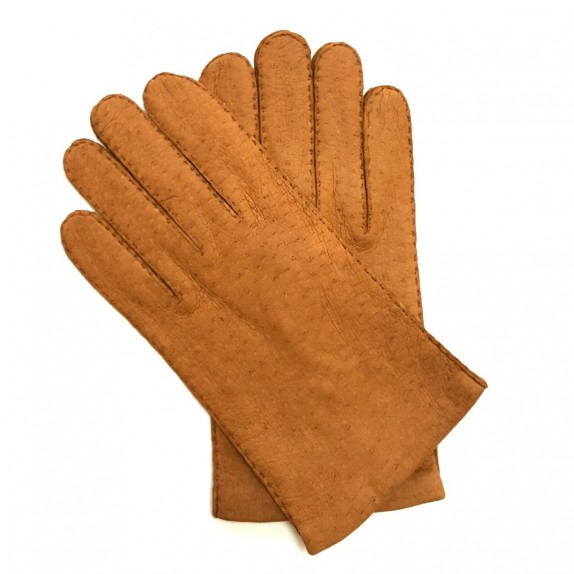 "Leather gloves of peccary cork ""MICHEL""."