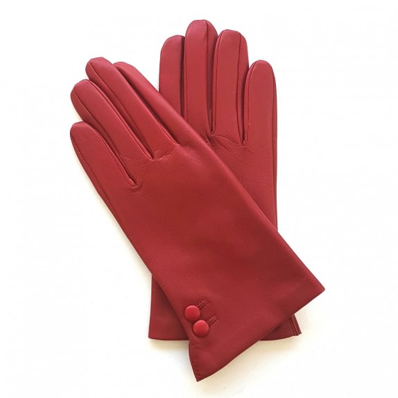 "Leather gloves of lamb red ""CLEMENTINE"""
